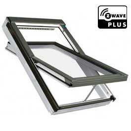 Fakro dakraam wit elektrisch bedienbaar 114x118 cm FTU met polyurethaan lak.