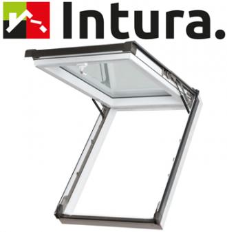 Intura IGKV N22 kunststof uitzet tuimel dakraam 78x140 cm triple glas