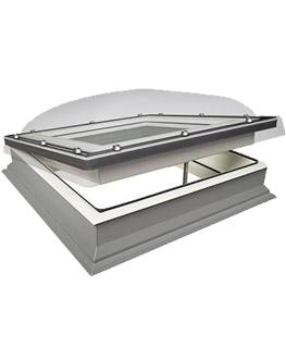 Lichtkoepel platdak Fakro lichtkoepel DMC ventilatie 70x70 cm