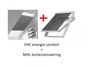 VELUX FOP energie combi zonwering voor FK04 - F04