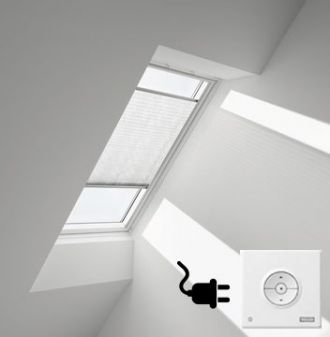 VELUX elektrisch plisse gordijn voor VELUX dakraam UK08 - U08 - 808 - 8.