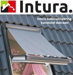 Buitenzonwering voor Intura dakraam hout 134x98 cm