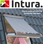 Buitenzonwering voor Intura dakraam hout 114x118 cm