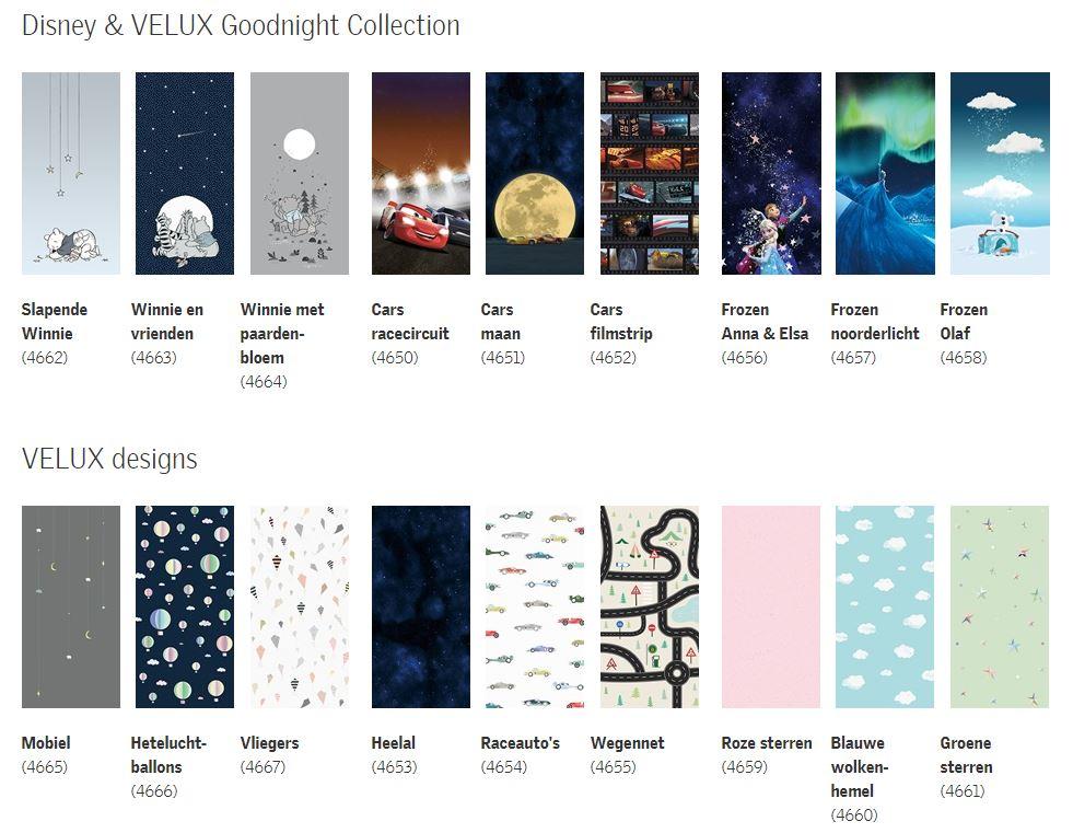 Goodnight themas en kleuren velux