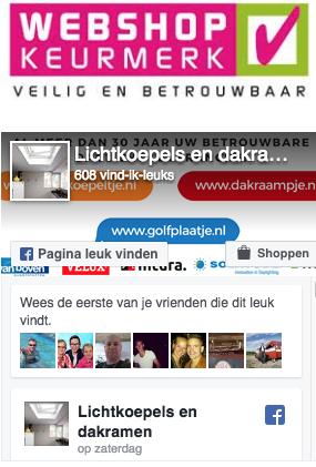 Bekijk dakraampje.nl op facebook