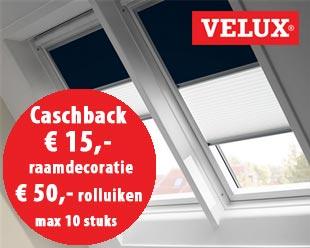 Cashback actie VELUX raamdecoratie Mei 2018